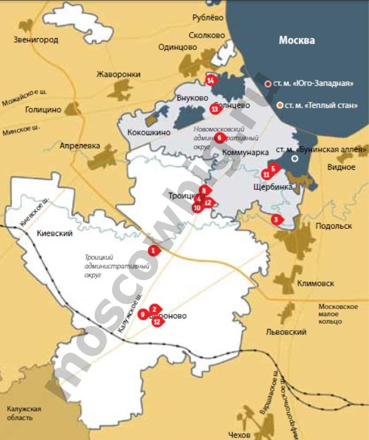 Карта за здоровьем по новой москве