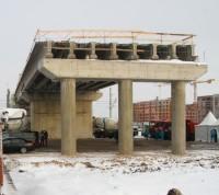 Завершен монтаж металлоконструкций автодорожного переезда в Щербинке