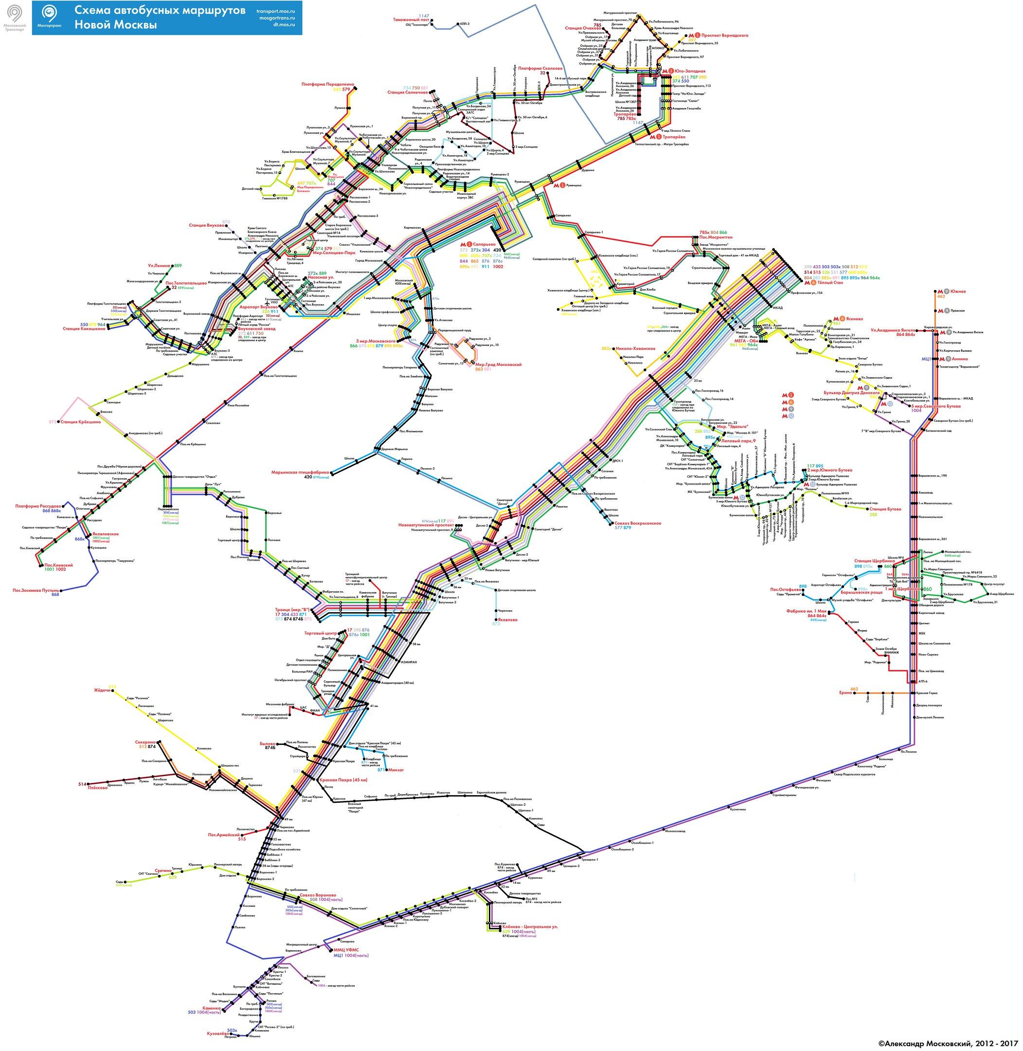 В 2016 году в «новой Москве» запущено 16 маршрутов наземного транспорта