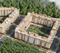 Жилой комплекс в стиле 1940–1950-х годов в «новой Москве»