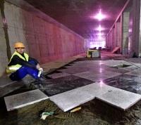 Началась отделка путевых стен станции метро «Рассказовка»