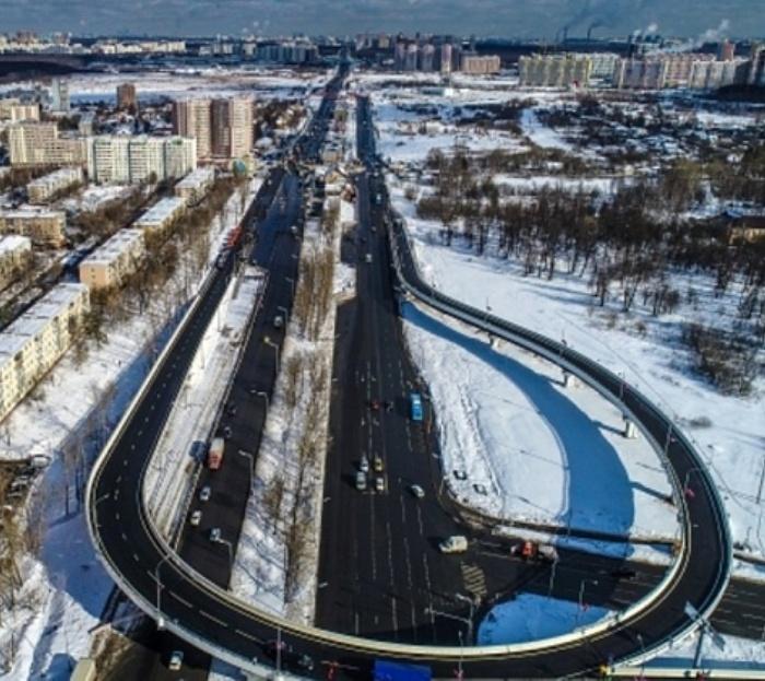 В Щербинке открыли новую эстакаду через Варшавское шоссе