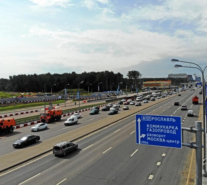 Реконструкцию Калужского шоссе полностью завершат до конца августа