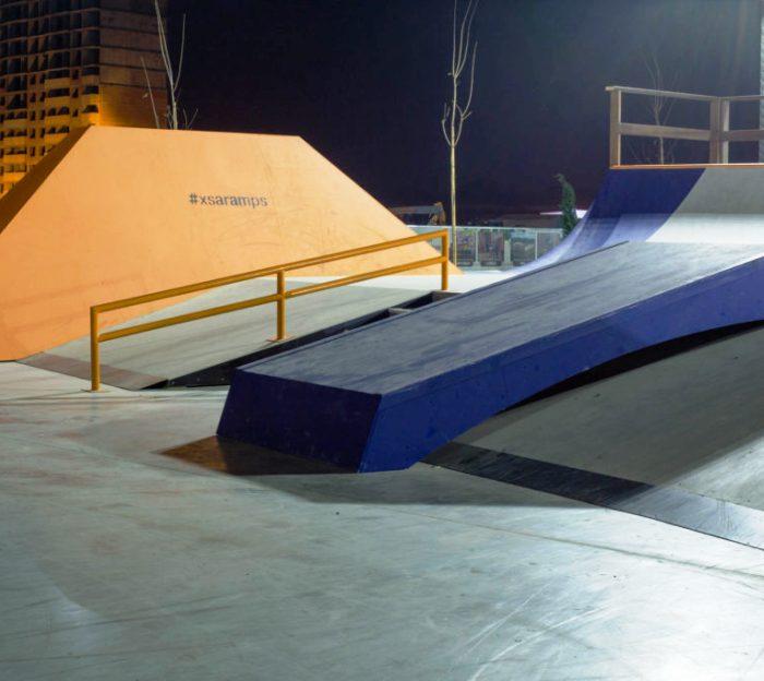 Скейт-парк обустроен на дворовой территории ЖК «Рассказово»