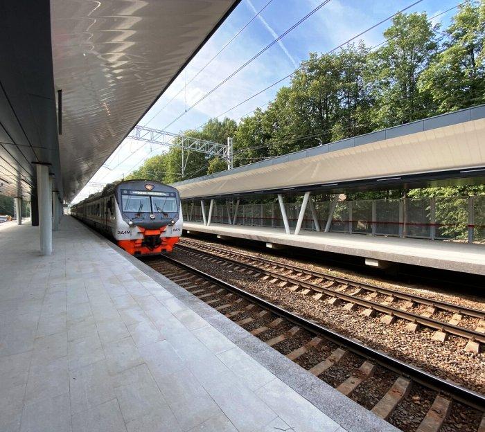 Станция «Мичуринец» МЦД-4 с навесом в виде хвоста ласточки откроется после реконструкции осенью 2020 года