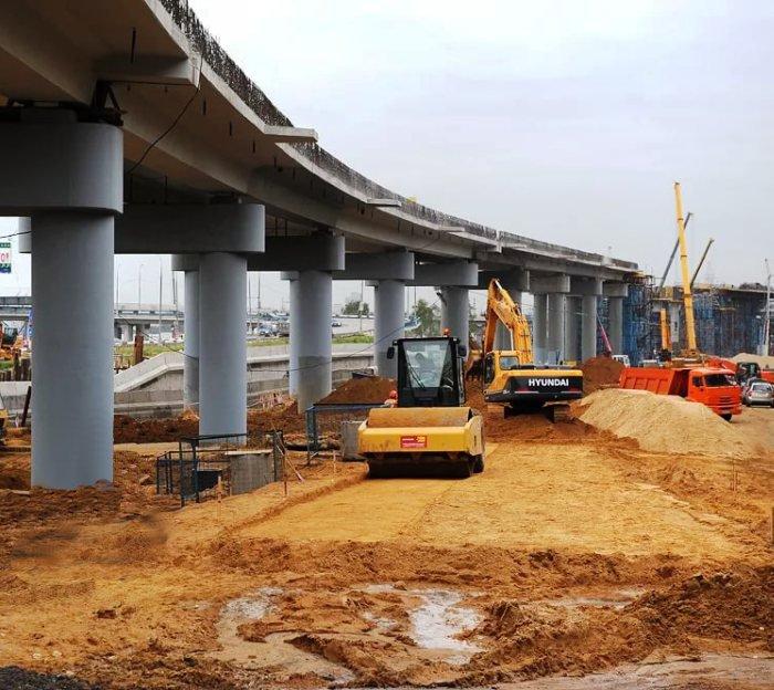 Началось бетонирование эстакады на дороге МКАД – поселок Коммунарка
