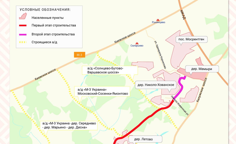 Началось проектирование второго участка дублера Калужского шоссе