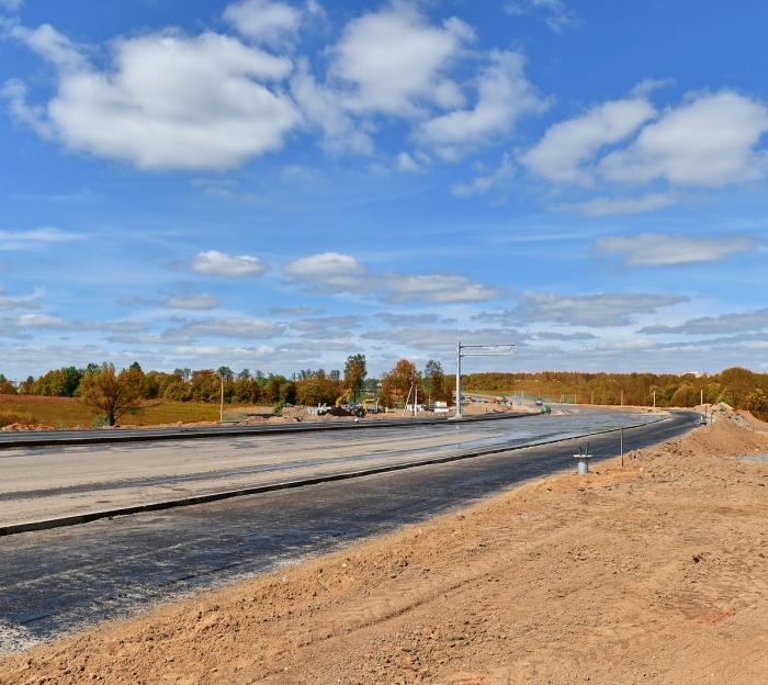 В ТиНАО началось строительство дополнительного выезда из города Московский