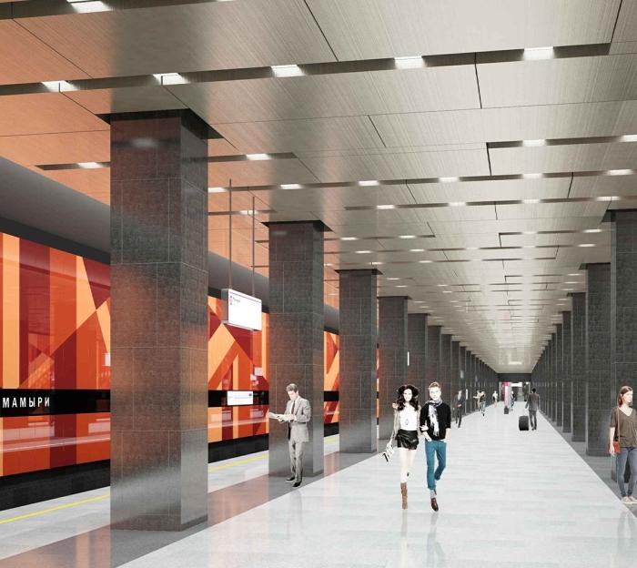 Начались подготовительные работы для строительства вестибюля-«лепестка» станции метро «Мамыри» в ТиНАО